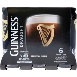 Photo of Guinness Draught  6 x 440ml Cans