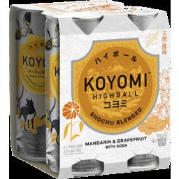 Photo of Koyomi Highball Mandarin And Grapefruit 250ml 4 Pack