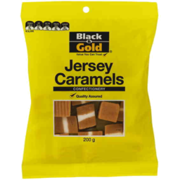 Photo of Black & Gold Jersey Caramels 200g