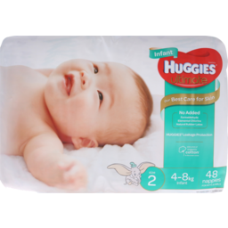 Photo of Huggies Infant Unisex Nappies Size 2 48pk