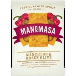 Photo of Manomasa Tortillas Manchego & Green Olive 160gm