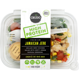 Photo of Crudo High Protein Jamaican Jerk Salad 250g