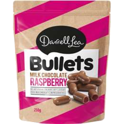 Photo of DARRELL LEA BULLETS RASPBERRY/MILK CHOC