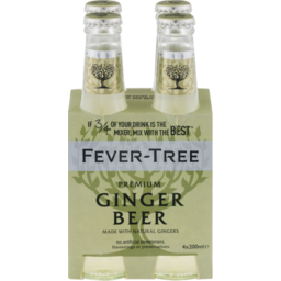 Photo of Fever Tree Ginger Beer Bottles