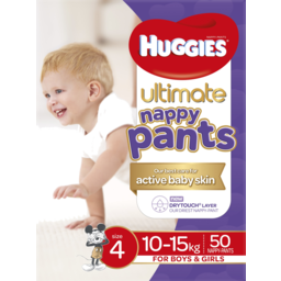 Photo of Huggies Ultimate For Boys & Girls 10-15kg Size 4 Nappy Pants 50 Pack