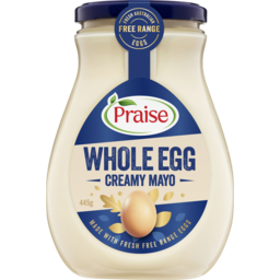Photo of Praise Whole Egg Mayonnaise 445g (Jar)