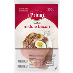 Photo of Primo Bacon Middle Rashers 250gm