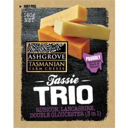 Photo of Ashgrove Cheese Tassie Trio Cheddar 140gm