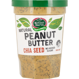 Photo of Mother Earth Peanut Butter Chia Seed 380g