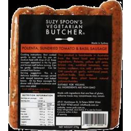 Photo of Suzy Spoon's Vegetarian Butcher Sausages - Polenta, Sundried Tomato & Basil