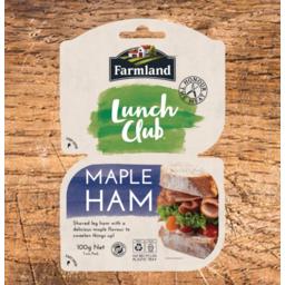 Photo of Farmlands Lunch Club Maple Ham 100g Twin Pack