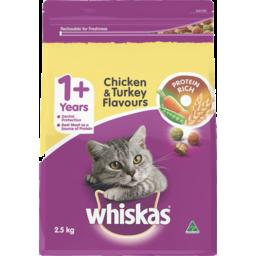 Photo of Whiskas 1+ Years Dry Cat Food Chicken & Turkey 2.5kg