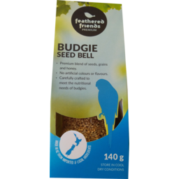 Photo of Feathered Friend Budgie Seed Bell 120g