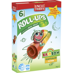 Photo of Uncle Tobys Roll Ups Rainbow Fruit Salad 6pk 94g