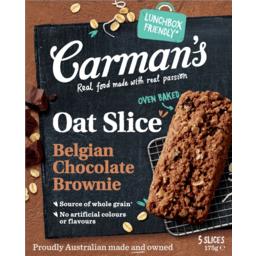 Photo of Carmans Belgian Chocolate Brownie Oat Slice 5 Pack 175g