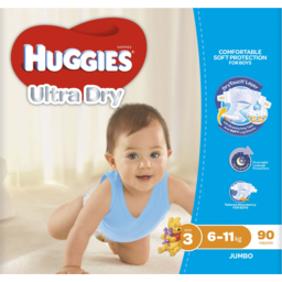 Photo of Huggies Ultra Dry For Boys 6-11kg Size 3 Nappies Jumbo Pack 90 Pack