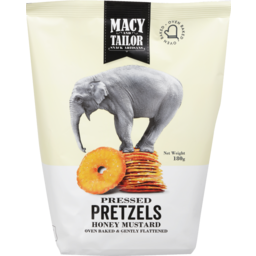 Photo of Macy And Tailor Pressed Pretzels Honey Mustard 180g