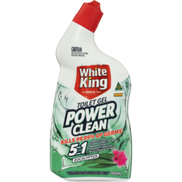 Photo of White King Power Clean Toilet Bleach Gel Eucalyptus 700ml