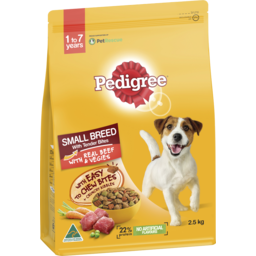 Photo of Pedigree Small Breed With Tender Bites Dry Dog Food With Real Beef And Vegies 2.5kg Bag