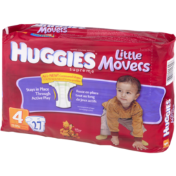 Photo of Huggies Supreme Little Movers Diapers Jumbo Pack Size 4, 23-37 Lb