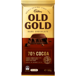 Photo of Cadbury Old Gold 70% Cocoa Dark Chocolate) 180g