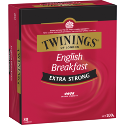 Photo of Twinings English Breakfast Extra Strong Tea Bag 80 Pack 200g