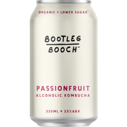 Photo of Bootleg Booch Passionfruit Alcoholic Kombucha 330ml