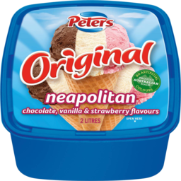 Photo of Peters Ice Cream Original Neapolitan 2lt