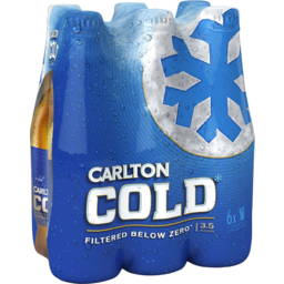 Photo of Carlton Draught Carlton Cold 6 X 355ml Bottles
