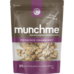 Photo of Munchme Pistachio Cranberry Plant Based Snack 120g