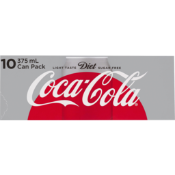 Photo of Coca Cola Diet Cans Multipack 10x 375ml