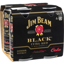 Photo of Jim Beam Black Extra Aged Bourbon and Cola
