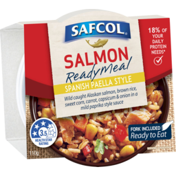Photo of Safcol Salmon Ready Meal Spanish Paella Style 110g