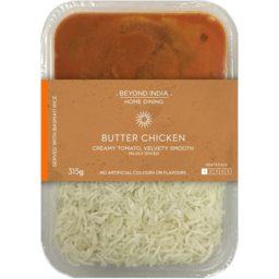 Photo of Beyond India Home Dining Butter Chicken & Rice 315g