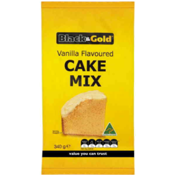 Photo of Black & Gold Cake Mix Vanilla 340gm