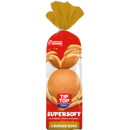 Photo of Supersoft Burger Buns Tip-Top 6 Pack