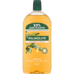Photo of Palmolive Antibacterial Liquid Hand Wash Soap White Tea Refill & Save 0% Parabens Recyclable 500ml