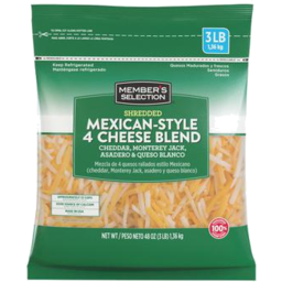 Photo of Members Selection Mexican Blend Shredded Cheese