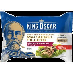 Photo of King Oscar Mackerel Fillet Mediterranean Style 115gm