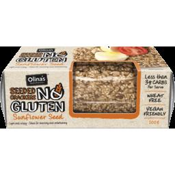 Photo of Olina's Gluten Free Crackers Sunflower Seed 100g