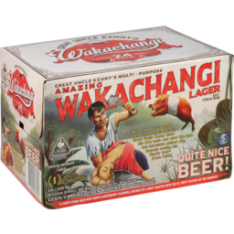 Photo of Wakachangi Great Uncle Kenny's Lager 24x330ml