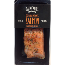 Photo of Catalanos Salmon Tasmanian Herb & Garlic 200gm