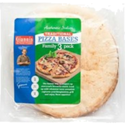 Photo of Giannis Pizza Bases 3 Pack