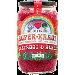 Photo of Peace Love & Veg Beetroot & Herbs Superkraut