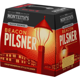 Photo of Monteiths Batch Brewed Beacon Pilsner 330ml Bottle 12 Pack