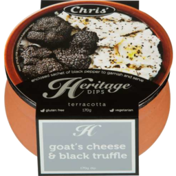 Photo of Chris Heritage Goats Cheese & Black Truffle 170gm