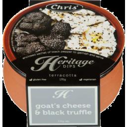 Photo of Chris Heritage Cheese Goats Cheese & Black Truffle 170g