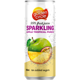 Photo of Golden Circle Juice Sparkling Apple Tropical punch 250ml