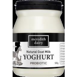 Photo of Meredith Dairy Natural Goat Milk Yoghurt Probiotic 500g