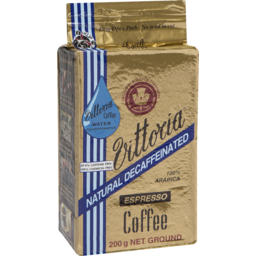 Photo of Vittoria Coffee Decaffeinated Ground Coffee 200g